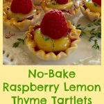 No-Bake Raspberry Lemon Thyme Tartlets are a 5 ingredient quick and easy dessert that's bursting with spring flavors and fruity sweetness!