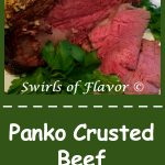 Panko Crusted Beef Rib Roast, an easy dinner recipe for entertaining, is surrounded with a seasoned panko crust bursting with flavor! easy | holiday | Easter | dinner | beef | rib roast | #swirlsofflavor