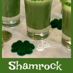 Shamrock Shake Shooters, made with vanilla ice cream, Irish Whiskey, mint flavoring and tinted green, are sure to be the hit of your Saint Patrick's Day! shakes | shamrock shake | ice cream | mint | Irish Whiskey | easy | recipe | drink | cocktail | Saint Patrick's Day | party | #swirlsofflavor