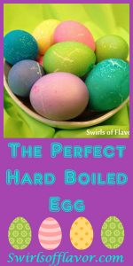Just follow these simple steps and you're guaranteed to be happy with The Perfect Hard Boiled Eggs every time! Easter | egg | hard boil | perfect egg | easy | #swirlsofflavor
