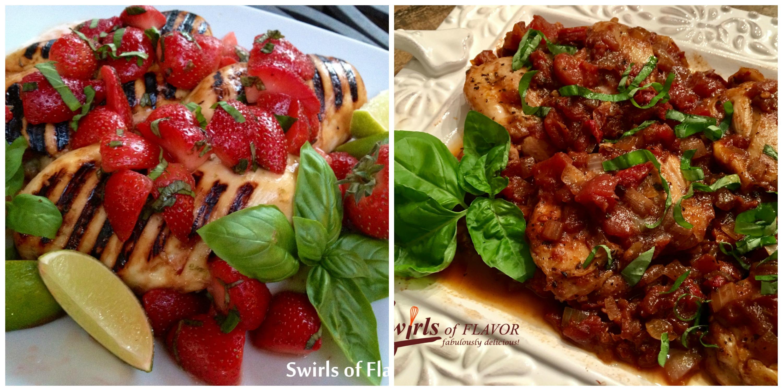 Strawberry Basil Chicken and Balsamic Chicken