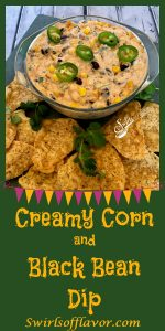 Creamy Corn and Black Bean Dip, an easy dip recipe that's bursting with cheesy goodness and a hint of spice, is a delicious way to kick off your Cinco de Mayo fiesta!