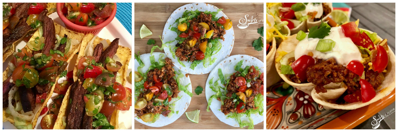 Steak Tacos, Cauliflower Tacos and Taco Cups
