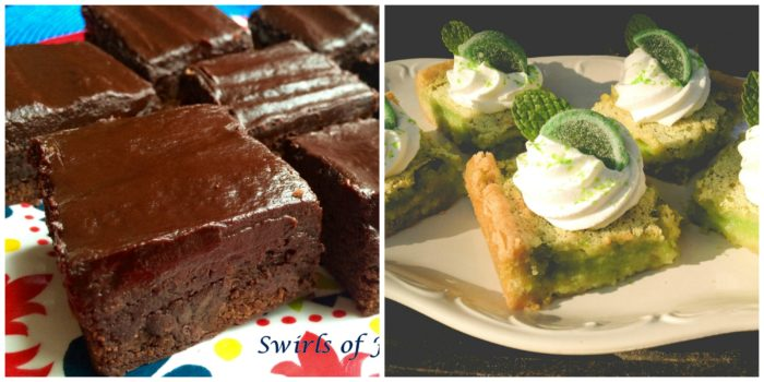 Chipotle Brownies and Lime Bars