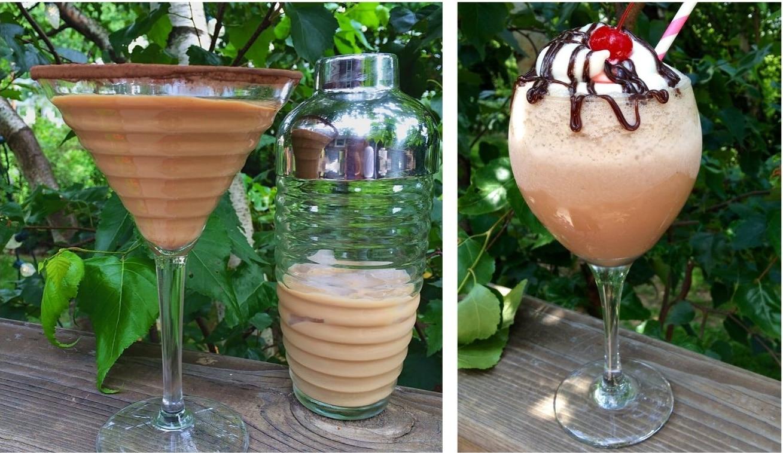 chocolate martini and Kahlua mudslide