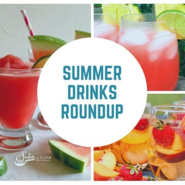collage of summer drinks