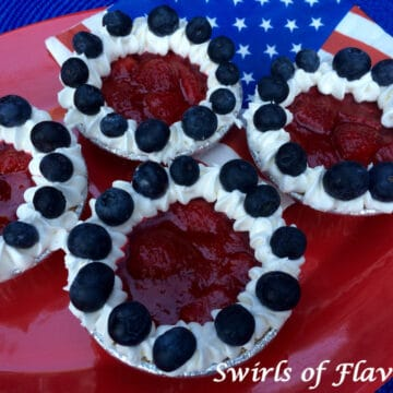 mini red white and blue berry pies