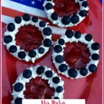 red white and blue Mini berry tartlets