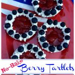 Festive and patriotic No-Bake Berry Tartlets are bursting with a citrus kissed strawberry filling and crowned with fresh blueberries.