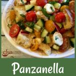 Panzanella is an easy recipe for the classic Tuscan bread salad and is bursting with heirloom tomatoes, cucumber, mozzarella and fresh basil, the flavors and colors of summer!