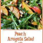 peach, arugula and almonds salad