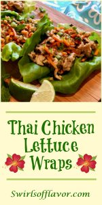 Thai Chicken Lettuce Wraps is an easy dinner recipe bursting with fresh ginger, garlic and Thai basil, that cooks on the stove top and is served in buttery lettuce leaves with a drizzle of fresh lime. chicken | ground chicken | dinner | salad | summer recipe | #swirlsofflavor