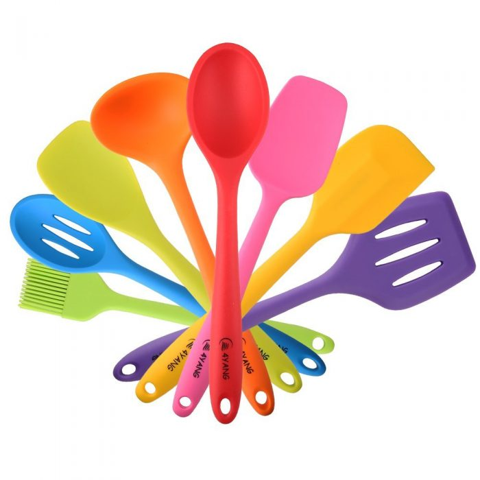 8 Piece Heat Resistant Silicone Utensil Set for Amazon Prime Day Deals!