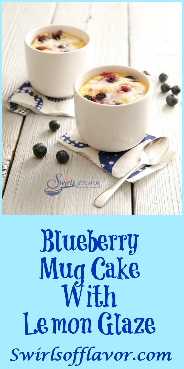 You can have a piece of Blueberry Mug Cake With Lemon Glaze in just minutes with our easy recipe that