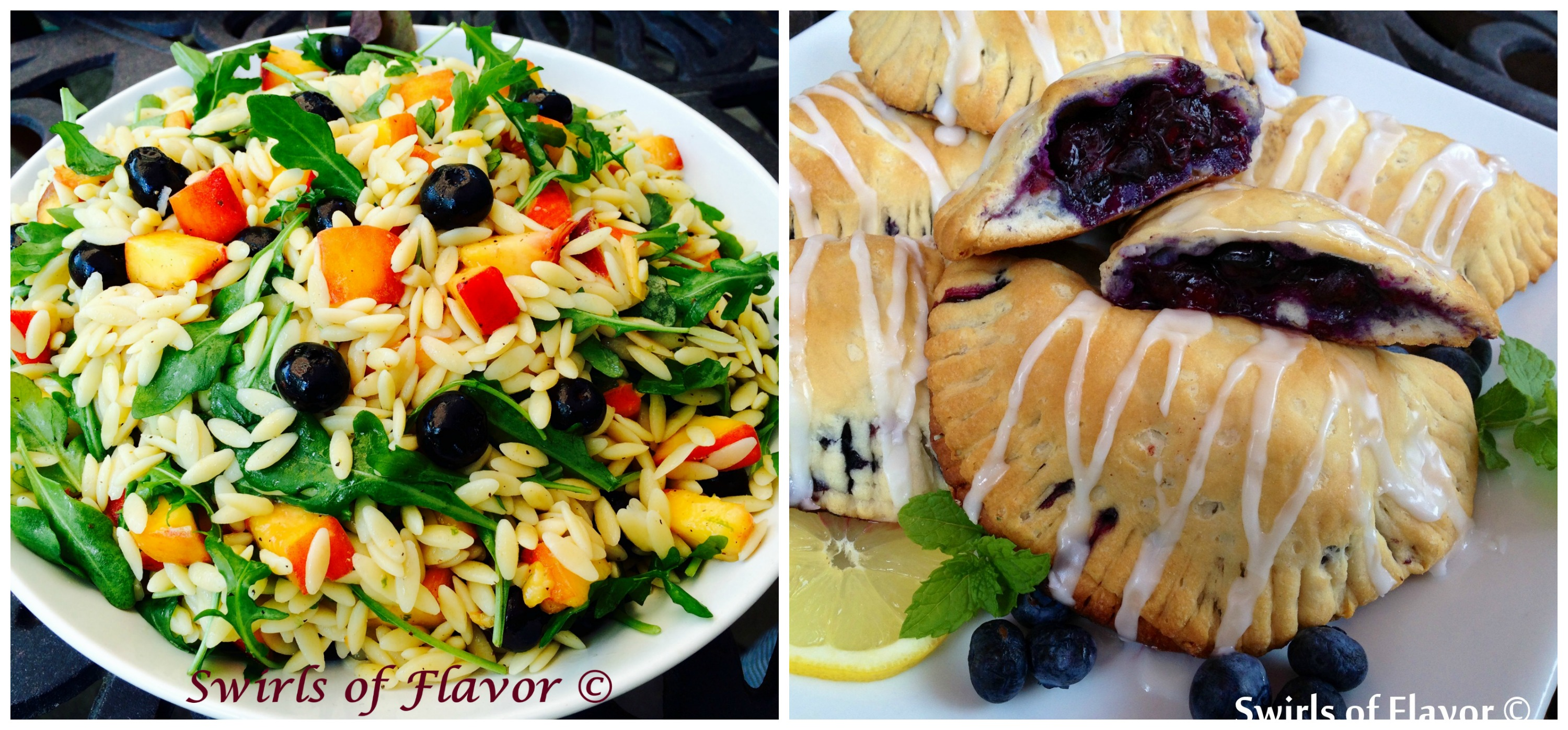 Blueberry Peach Orzo and Blueberry Hand Pies