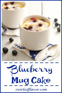 "You can have a piece of Blueberry Mug Cake With Lemon Glaze in just minutes with our easy recipe that ""cooks"" in your microwave in just minutes!"