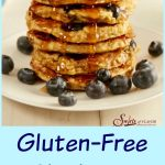 With just four ingredients, you'll happily be makingthesefrom-scratchGluten-Free Blueberry Pancakes over and over again for breakfast. pancakes | blueberry | homemade | breakfast | brunch | easy recipe | oats | bananas | #swirlsofflavor