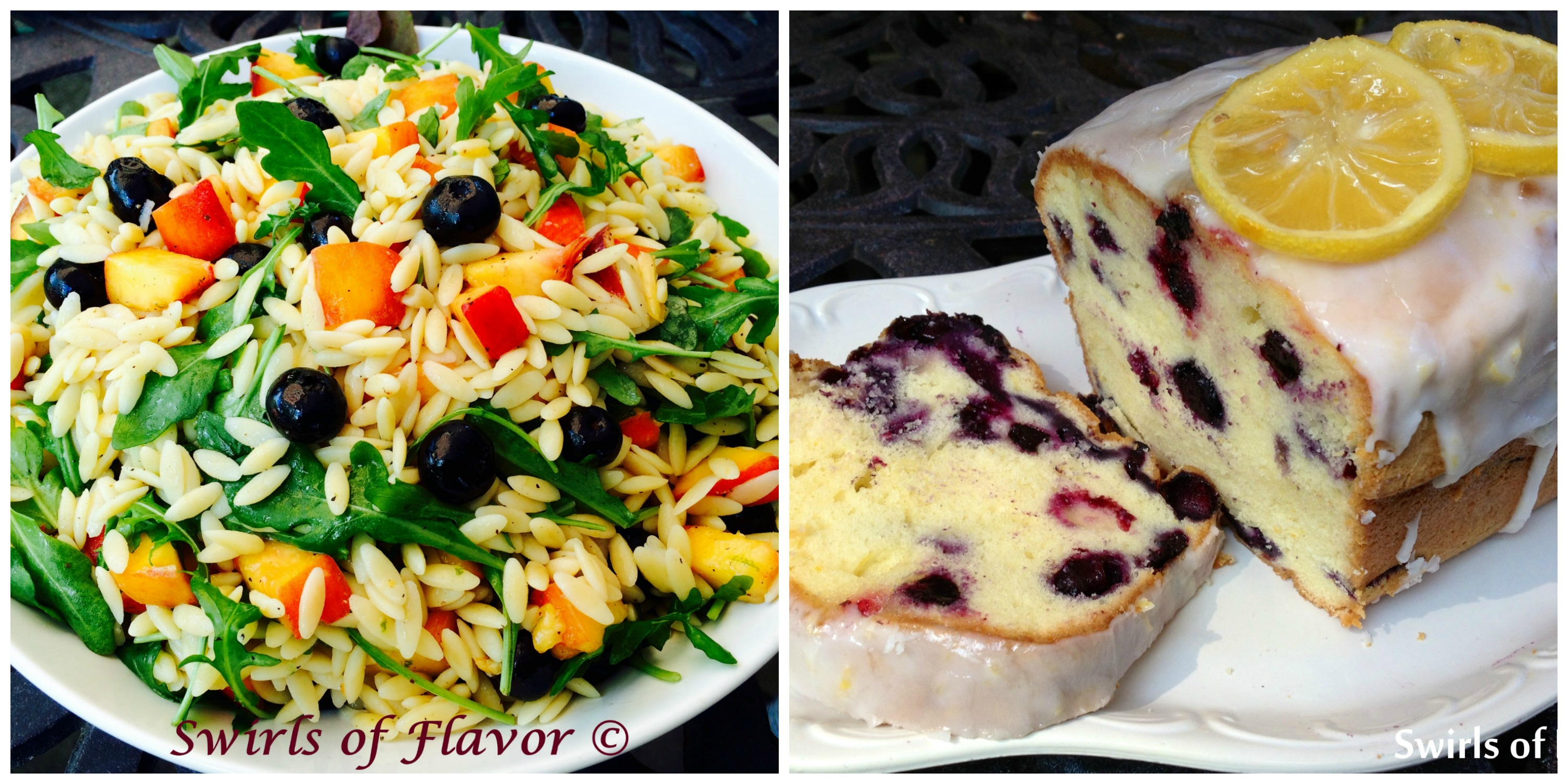 Blueberry Peach Orzo and Blueberry Pound Cake
