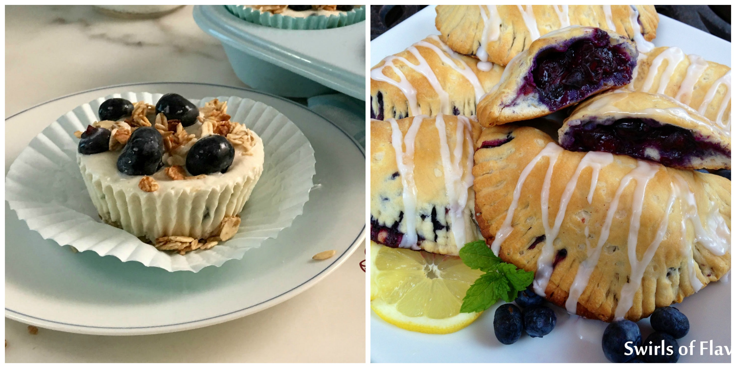 Blueberry Yogurt Cups and Blueberry Hand Pies