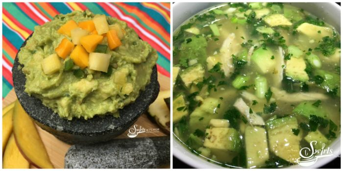 Tropical Guacamole and Avocado Chicken Soup