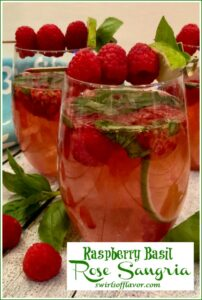 Glasses of raspberry sangria