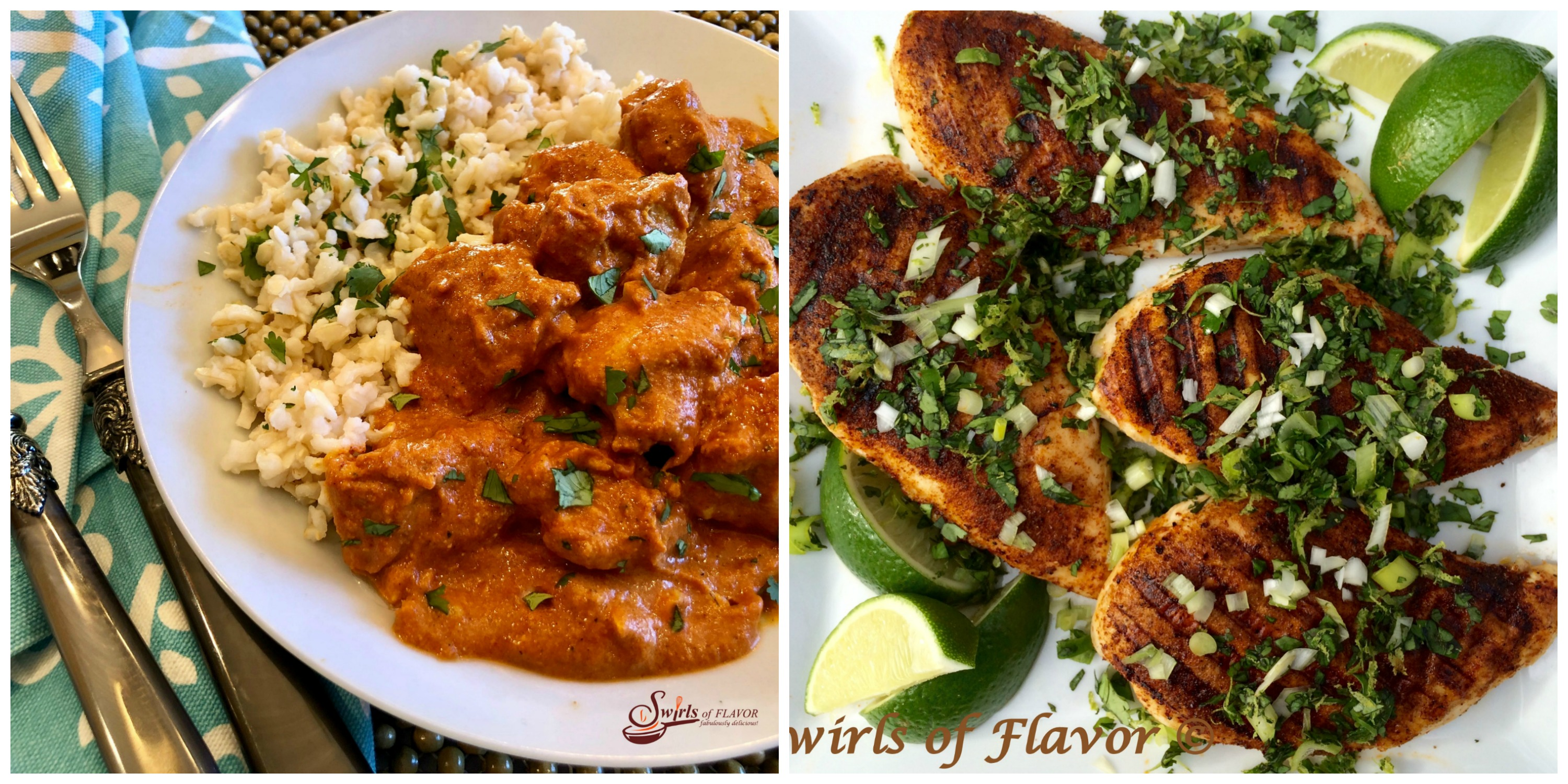 Butter Chicken and Chili Spiced Chicken
