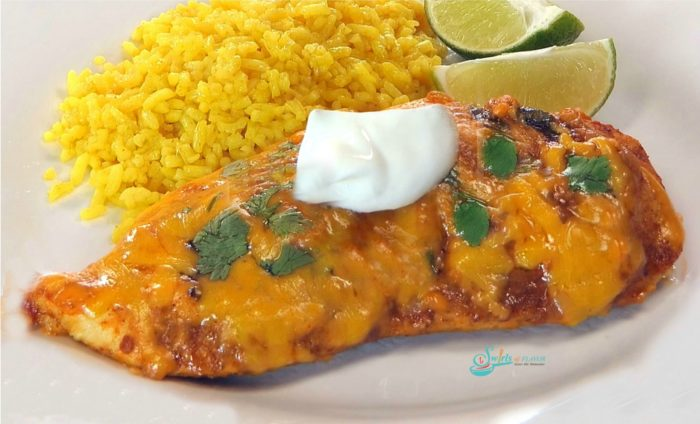 Baked Salsa Chicken on a plate