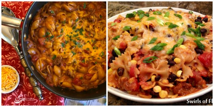 Chili Mac and Cheese and Mexicali Bowtie Pasta