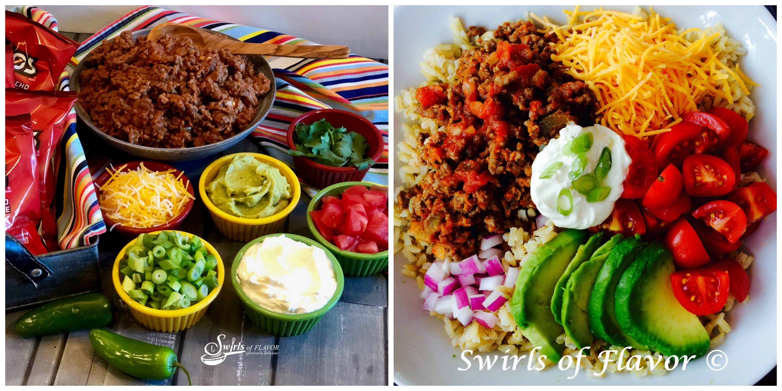 Walking Taco Bar and Brown Rice Taco Bowl