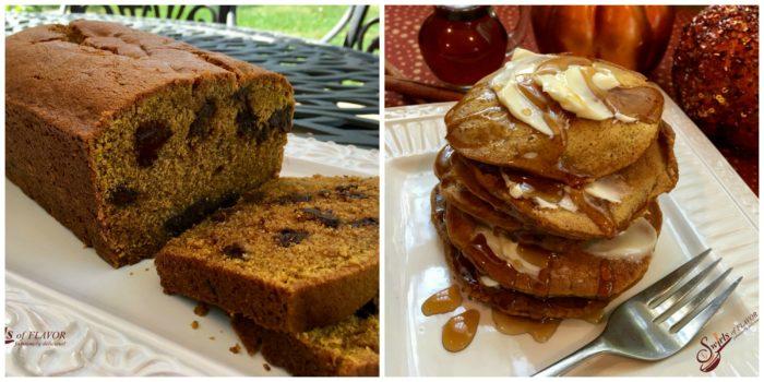 Pumpkin Bread and Pumpkin Pancakes