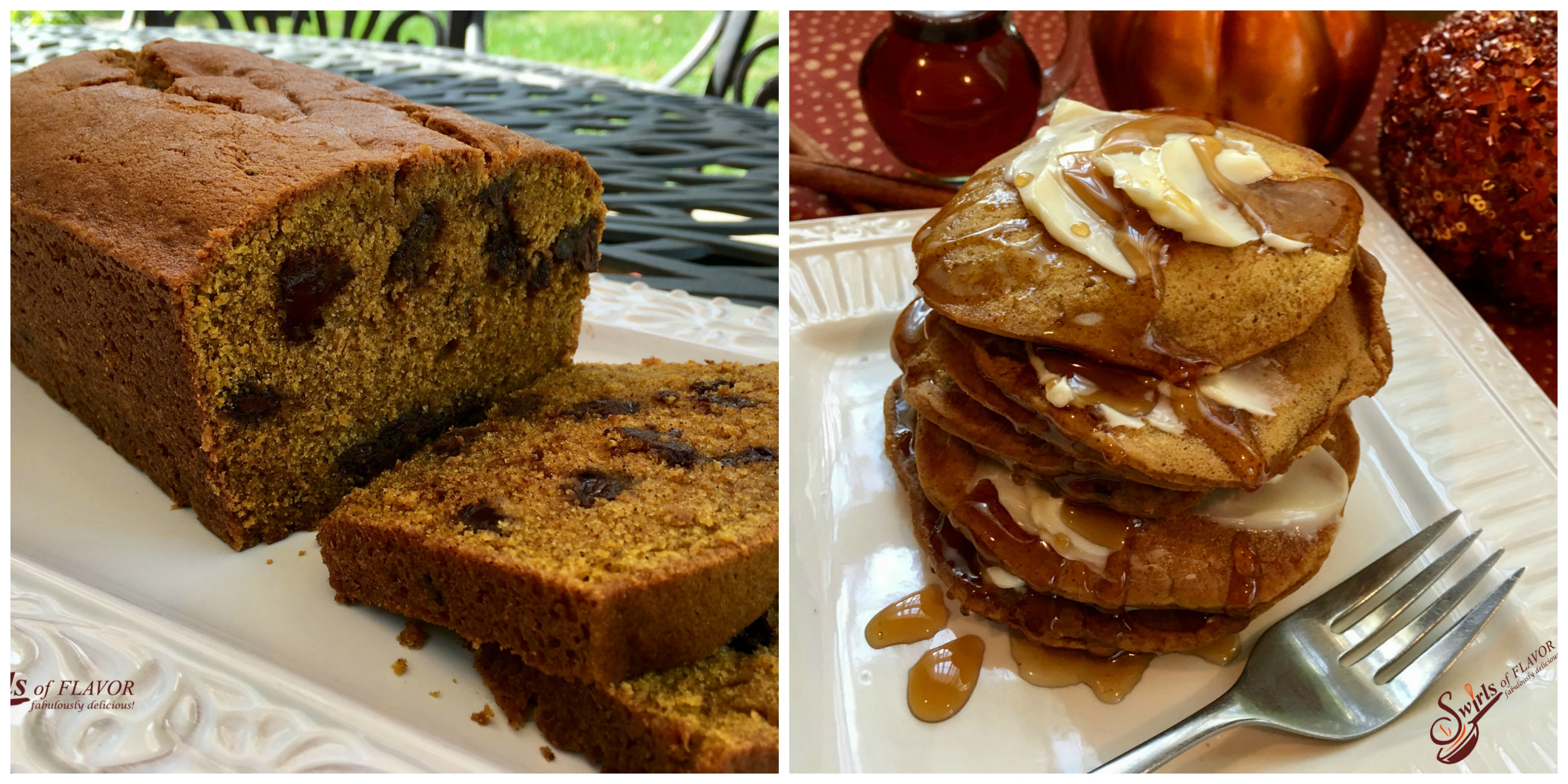 Pumpkin Bread and Pumpkin Pancakes
