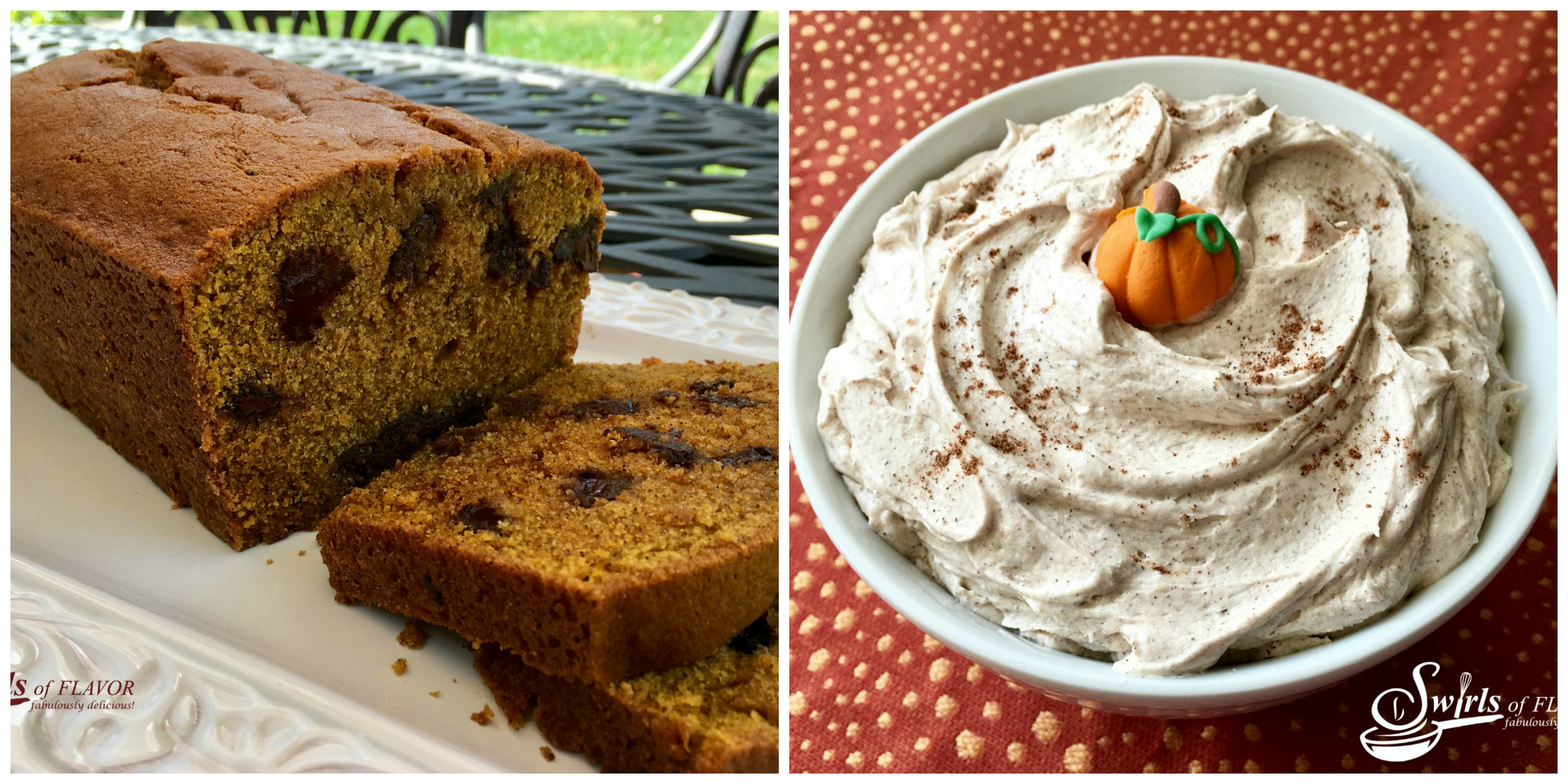 Pumpkin Spice Bread and Pumpkin Spice Frosting