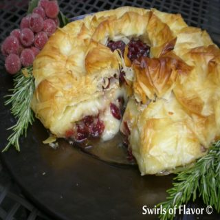 Phyllo Cranberry Baked Brie 1200