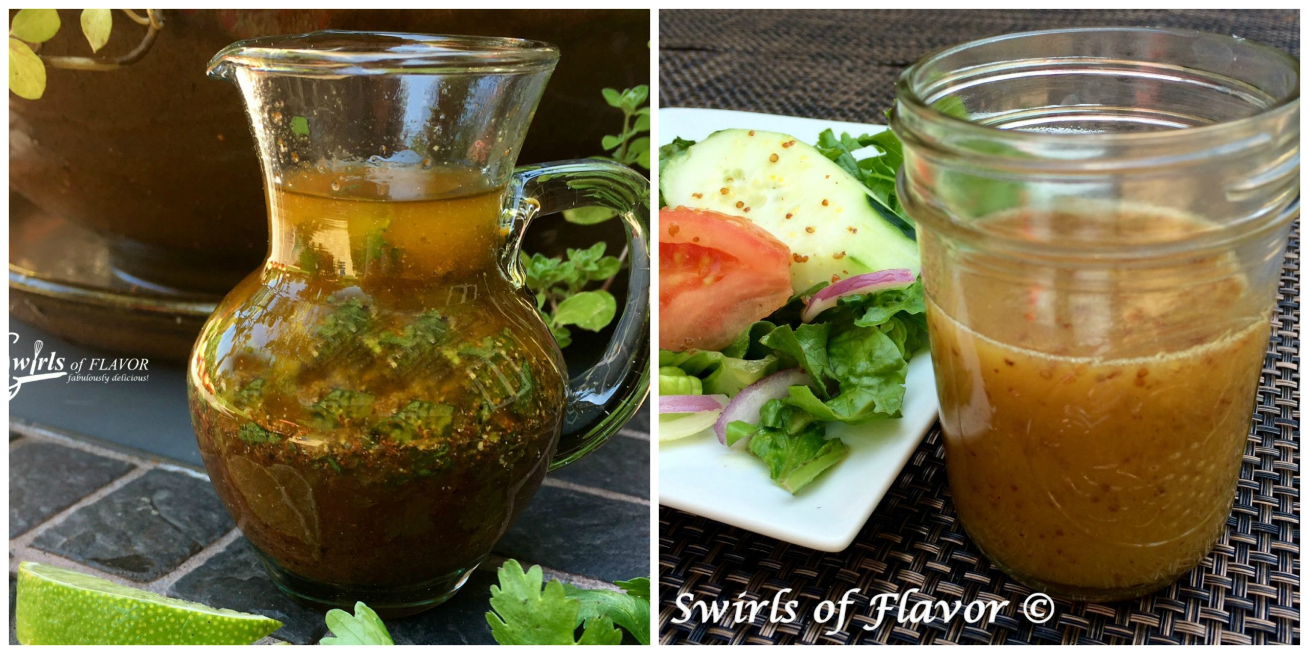 Chili Lime Vinaigrette and Honey Mustard Salad Dressing