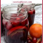 holiday sangria in mason jars