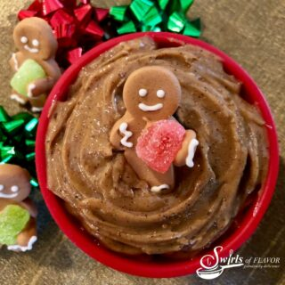 homemade gingerbread butter with sugar gingerbread man