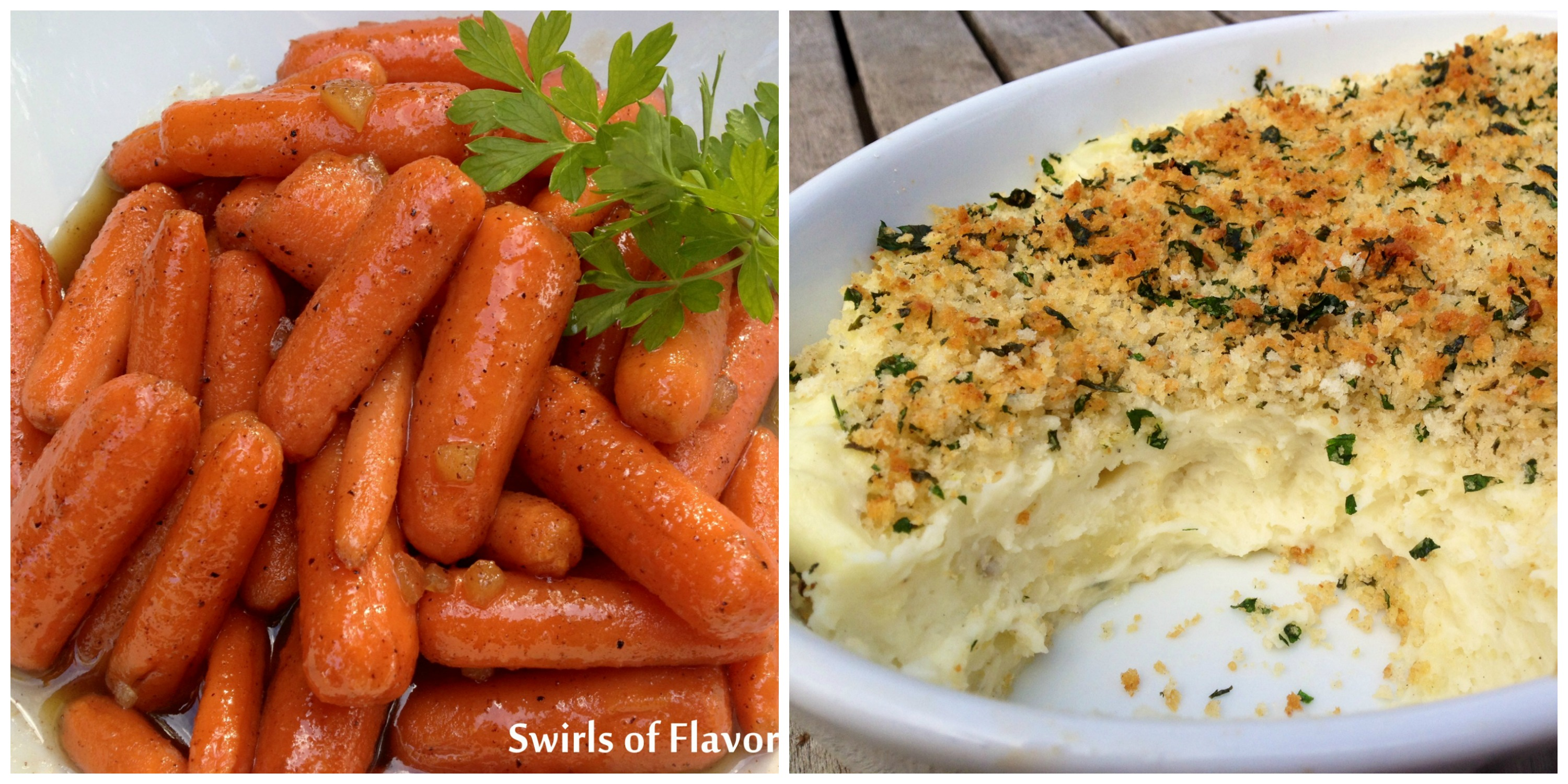 Gingered Carrots and Panko Mashed Potatoes