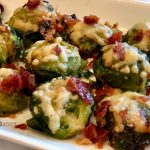 Smashed Brussels Sprouts With Crispy Prosciutto