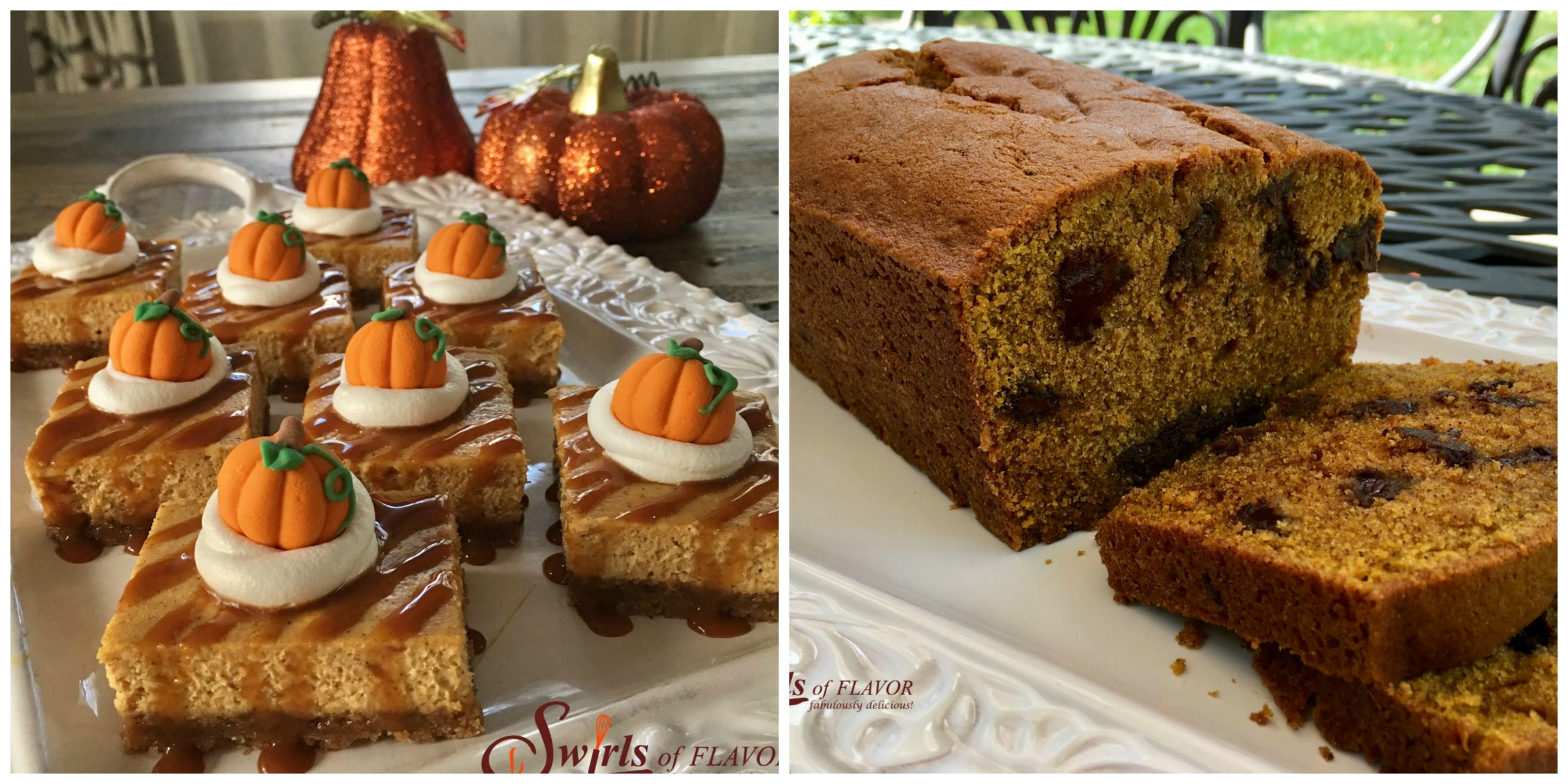 Pumpkin Cheesecake Bars and Pumpkin Bread