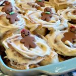 Christmas morning and Gingerbread Cinnamon Rolls go hand in hand. Gingerbread Cinnamon Rolls is an easy recipe filled with gingerbread spices and brown sugar and topped with a silky cream cheese glaze. #cinnamonrolls #cinnamonbuns #gingerbread #breakfast #brunch #Christmas #holiday #entertaining #easyrecipe #overnight #Makeahead #baking #swirlsofflavor