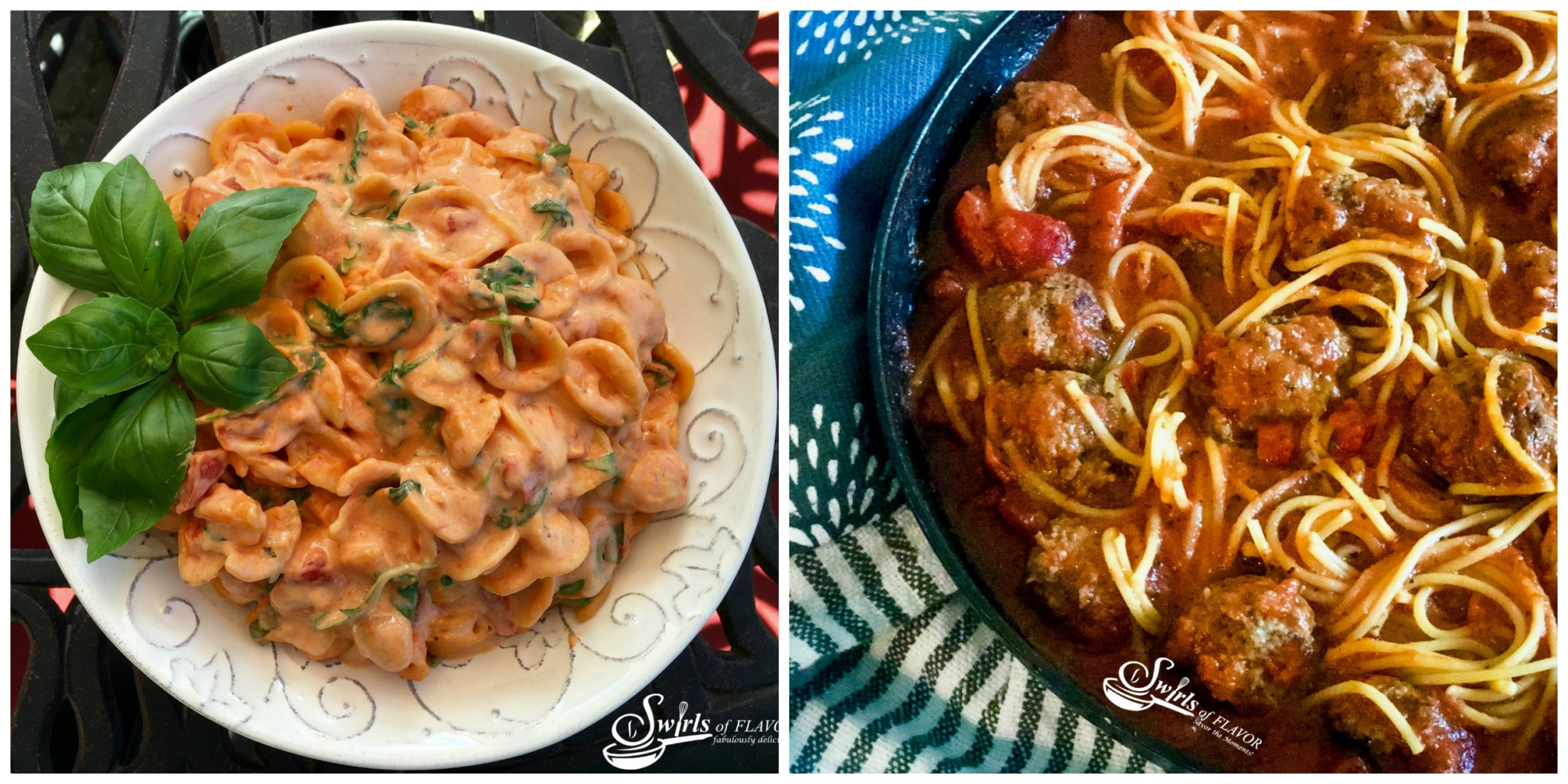 Creamy Tomato Pasta and One Pot Spaghetti and Meat Balls