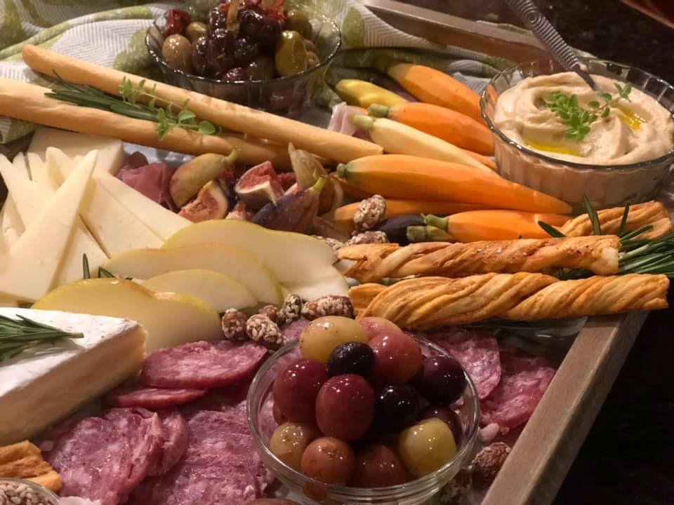 Charcuterie Board with hummus