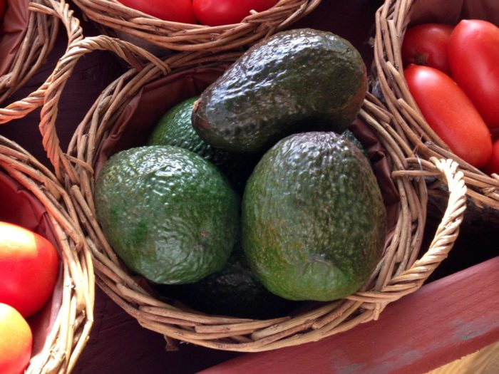 Avocados in a basket