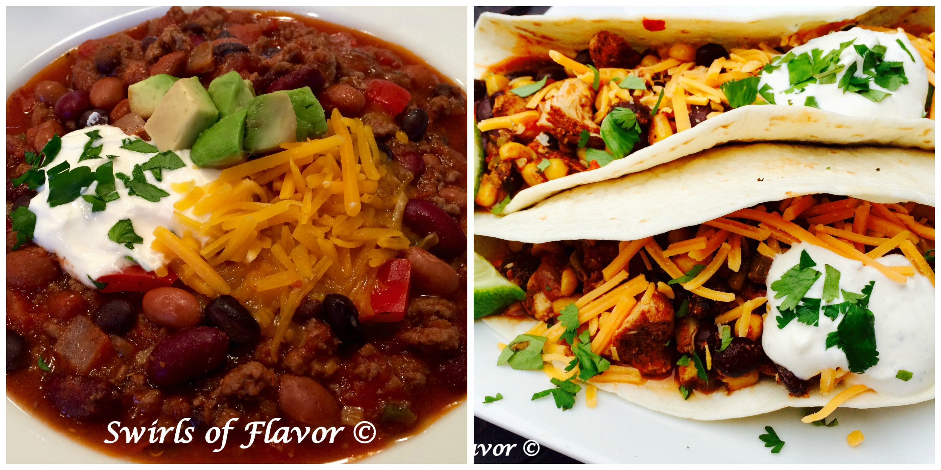 Best Ever Chili and Sow Cooker Chicken Chili