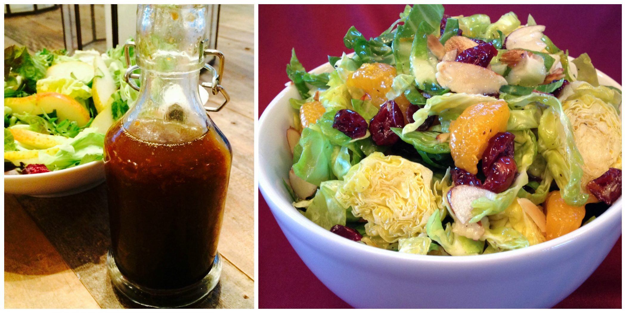 Honey Orange Balsamic Vinaigrette and Brussels Sprouts Salad