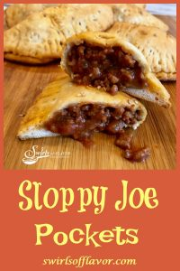 Tender biscuits filled with a saucy Sloppy Joe filling make Sloppy Joe Pockets a delicious on-the-go snack, fun for kids lunch or game day food for your Super Bowl party! An easy homemade Sloppy Joe filling makes every bite of these portable pockets ever so tasty!