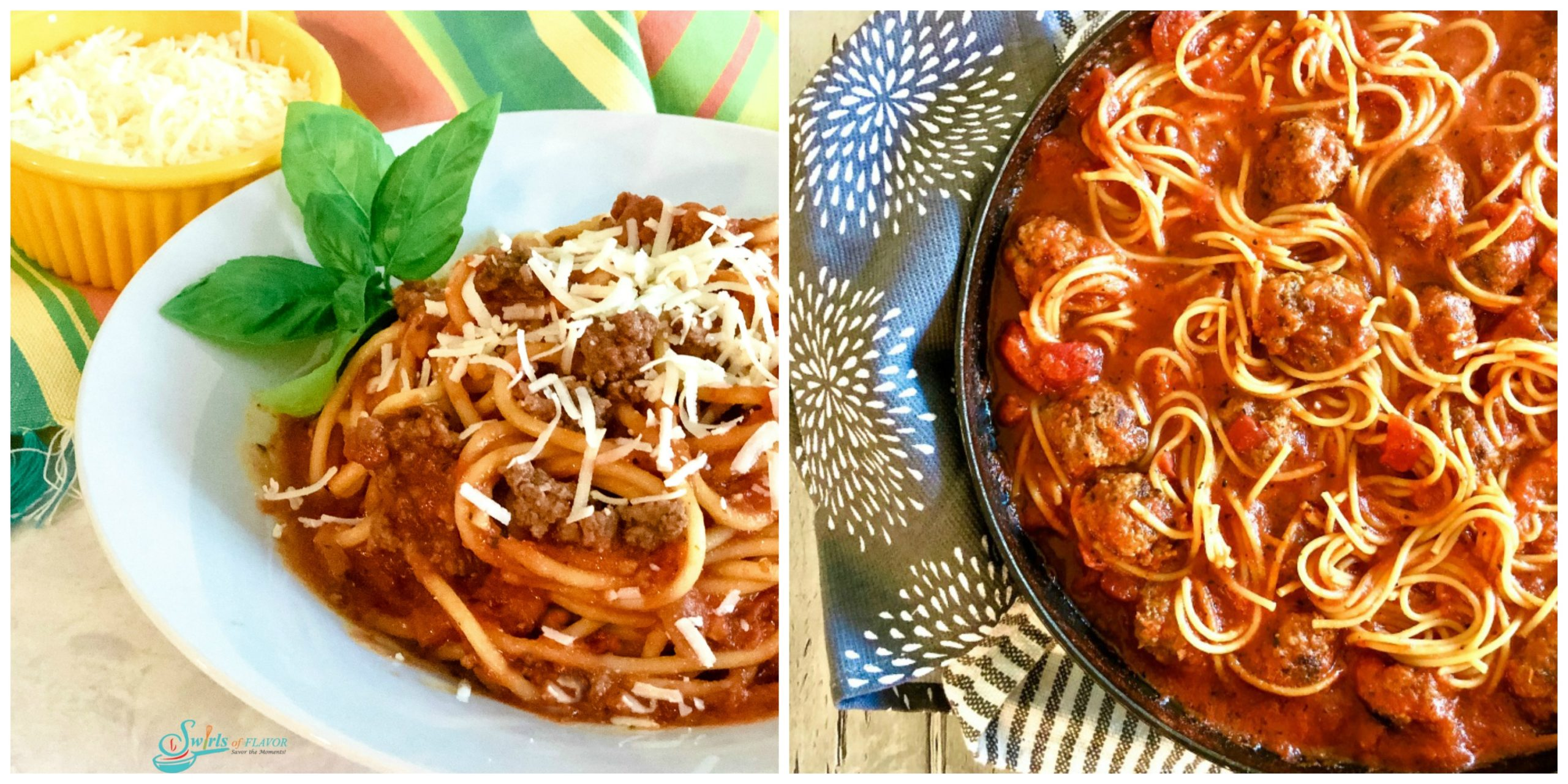two spaghetti rrecipes