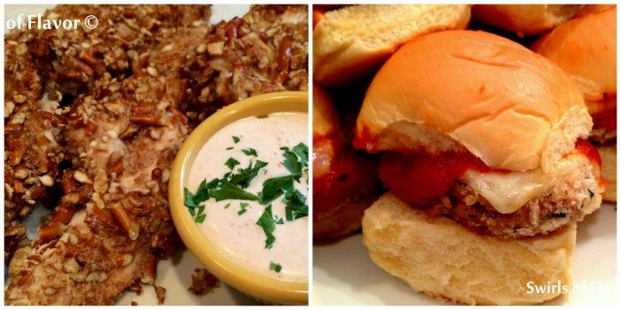 Pretzel Tenders and Chicken Parm Sliders