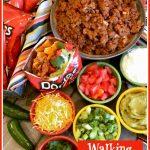 Walking Taco Bar ingredients