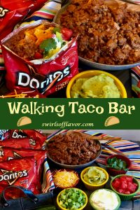 Our Walking Taco Bar is the perfect way to serve up a saucy taco filling and your favorite toppings for the big game or your next get together.